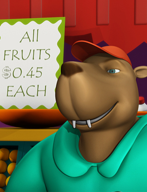 Centsables-bear_selling_food
